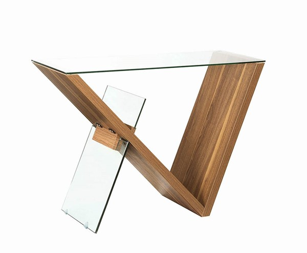 Coaster Furniture Light Walnut Veneer Sofa Table CST-721379