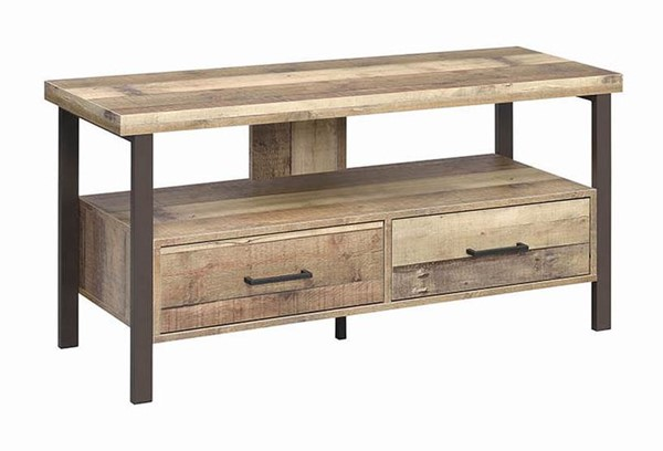 Coaster Furniture Weathered Pine 48 Inch TV Console CST-721882