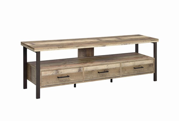 Coaster Furniture Weathered Pine 71 Inch TV Console CST-721891