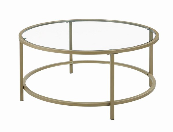 Coaster Furniture Brass 3pc Occasional Set CST-722351