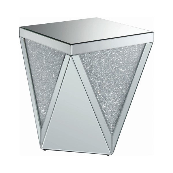 Coaster Furniture Clear Mirror End Table CST-722507