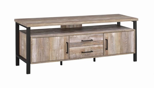Coaster Furniture Weathered Oak 59 Inch TV Console CST-722572
