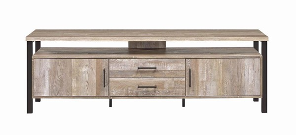 Coaster Furniture Weathered Oak 71 Inch TV Console CST-722573