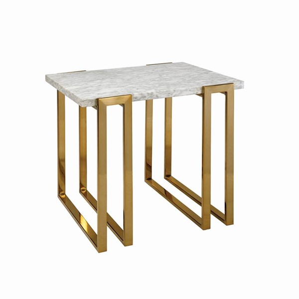 Coaster Furniture White End Table CST-722737