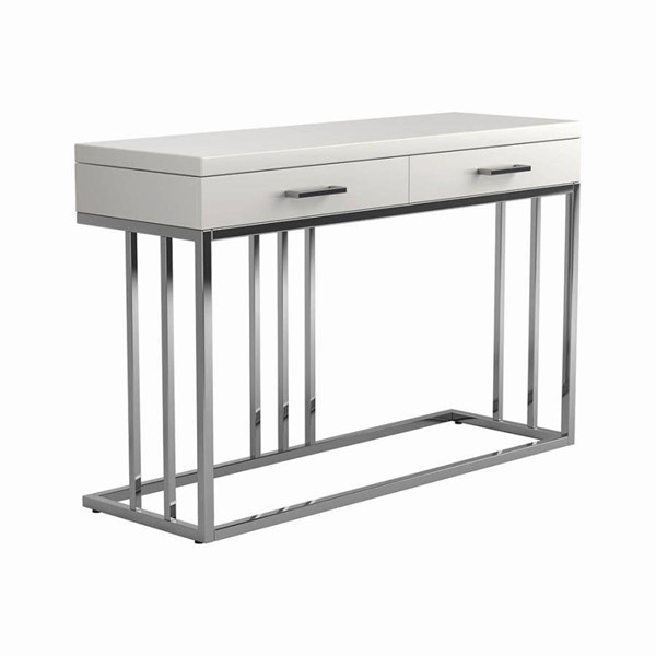 Coaster Furniture Glossy White Sofa Table CST-723139