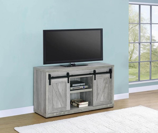 Coaster Furniture Grey Driftwood 48 Inch TV Consoles CST-7232-48-TV-VAR