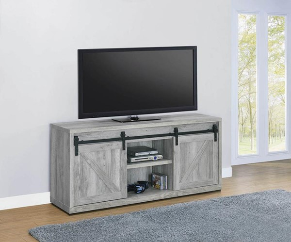 Coaster Furniture Grey Driftwood 59 Inch TV Consoles CST-7232-59-TV-VAR