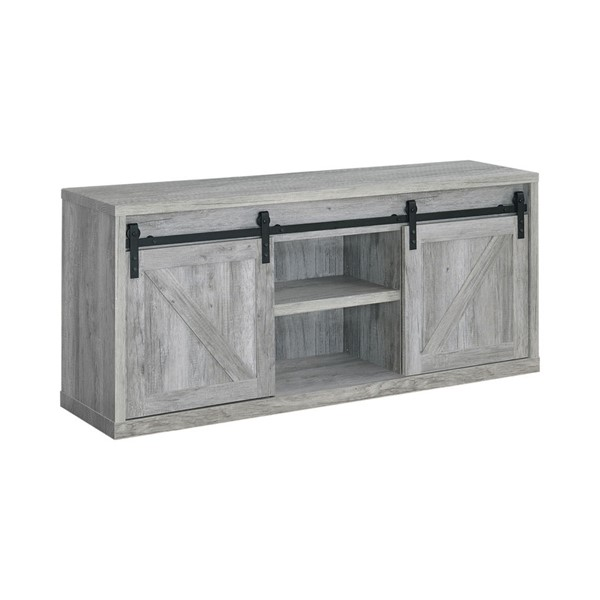Coaster Furniture Grey Driftwood 59 Inch TV Console CST-723262