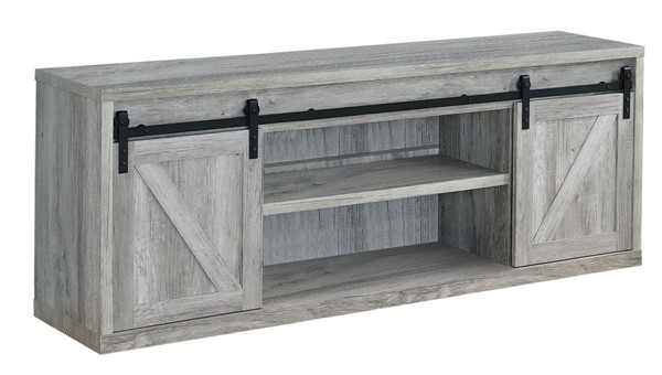 Coaster Furniture Grey Driftwood 71 Inch TV Console CST-723263