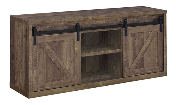 Coaster Furniture Rustic Oak 59 Inch TV Console CST-723272