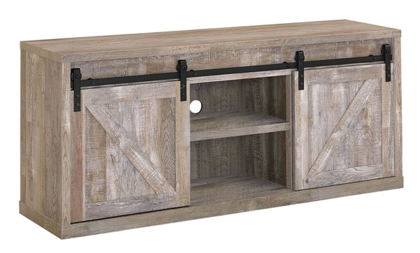 Coaster Furniture Weathered Oak 59 Inch TV Console CST-723282