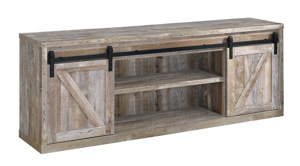 Coaster Furniture Weathered Oak 71 Inch TV Console CST-723283