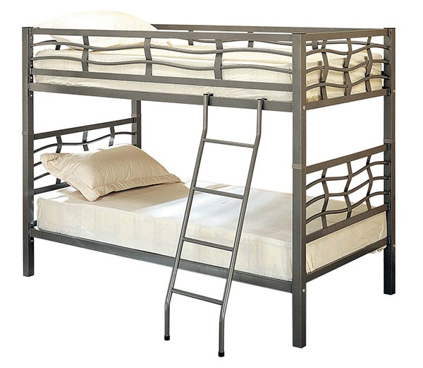 Coaster Furniture Fairfax Gunmetal Twin Over Twin Bunk Bed CST-7395