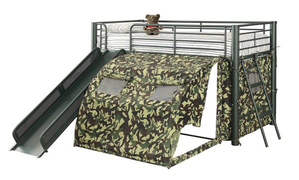 Coaster Furniture Camouflage Army Green Loft Bed CST-7470