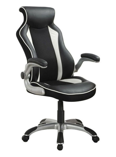 Coaster Furniture Black White Adjustable Height Office Chair CST-800048