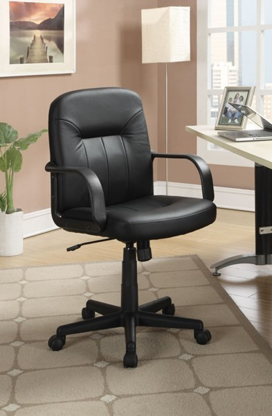 casual black leather like vinyl office chair home office