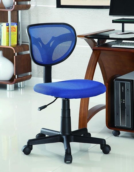 Black Blue Fabric Adjustable Height Office Chair CST-800055B
