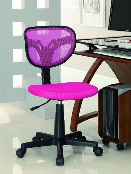 Black Pink Fabric Adjustable Height Office Chair CST-800055P