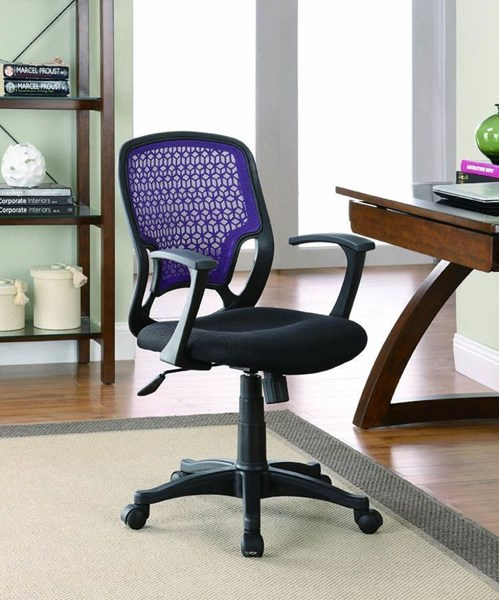 Contemporary Black Fabric Adjustable Height Office Chair CST-800056