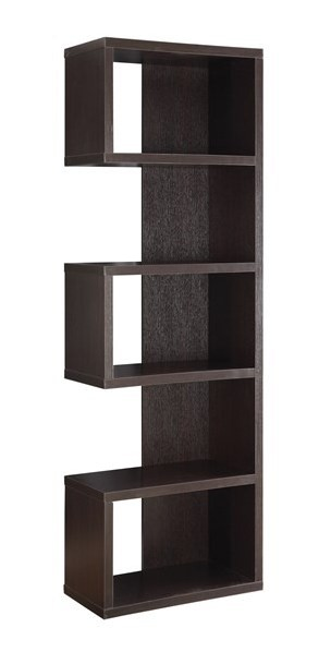Coaster Furniture Cappuccino MDF 5 Shelves Bookcase CST-800069