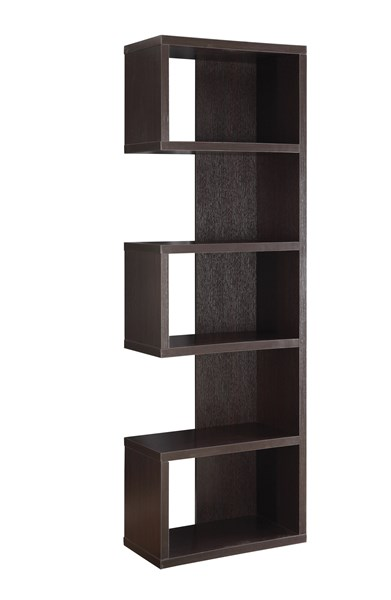 Cappuccino Wood Cube Units Bookcase W/5 Shelf CST-800069