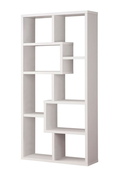 Coaster Furniture White MDF Wall Recessed Bookcase CST-800136