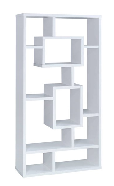 Coaster Furniture White MDF 10 Shelves Bookcase CST-800157