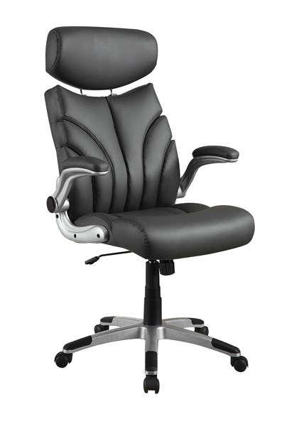 Coaster Furniture Silver Grey Faux Leather Office Chair CST-800164