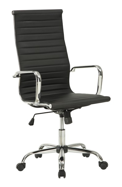 Contemporary Black Faux Leather Metal Office Chair CST-800175