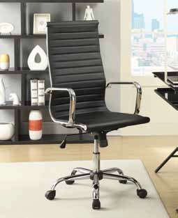 Contemporary Faux Leather Metal Office Chair CST-800175-77-VAR