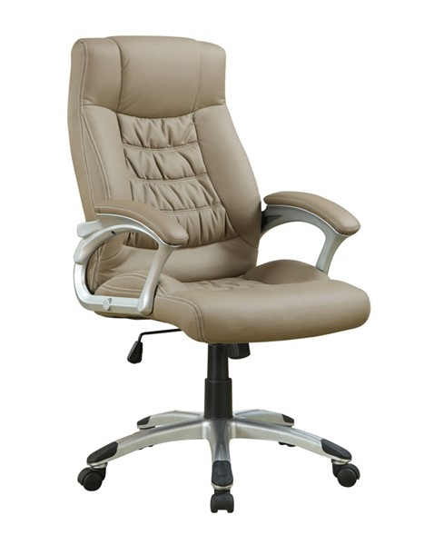 Coaster Furniture Taupe Faux Leather Office Chair CST-800205