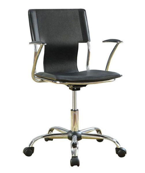 Coaster Furniture Contemporary Black Metal Office Chair CST-800207