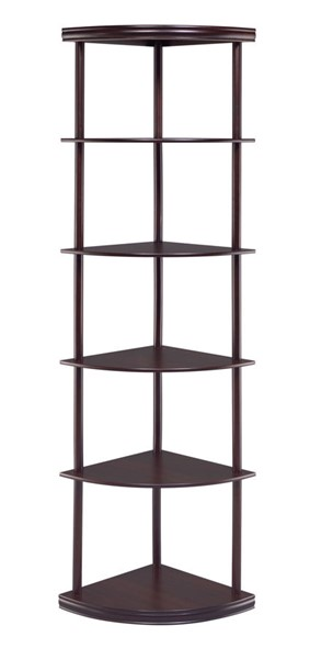 Coaster Furniture Cappuccino Corner Bookcase CST-800279