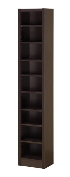 Coaster Furniture Cappuccino Wood 8 Shelves Bookcase CST-800285