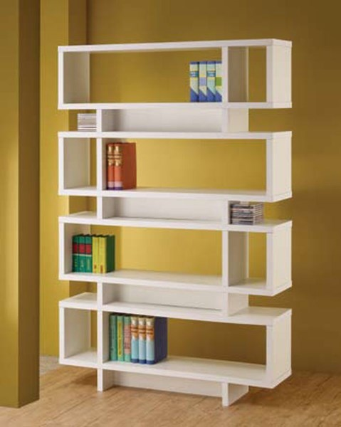 Coaster Furniture White 4 Tier Bookcase CST-800308