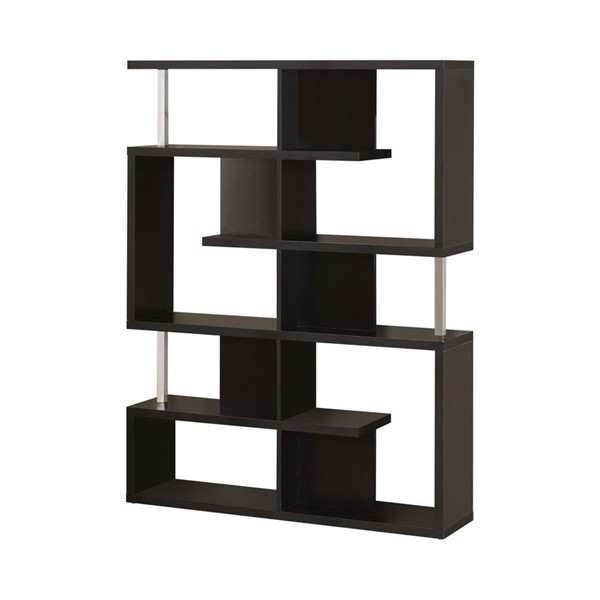 Coaster Furniture Black Wood Bookcase CST-800309
