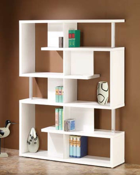 Coaster Furniture White Wood Shelves Bookcase CST-800310