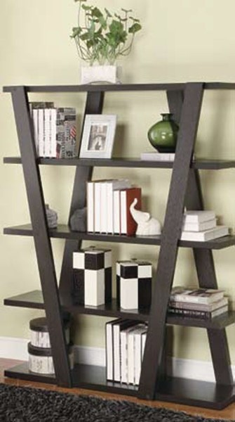 Coaster Furniture Cappuccino Wood 4 Tier Bookcase CST-800318