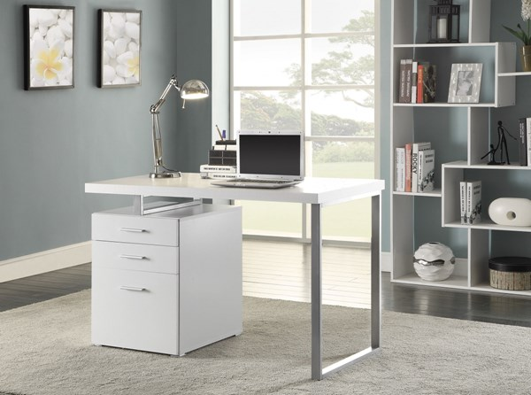 Coaster Furniture Hilliard White Writing Desk CST-800325