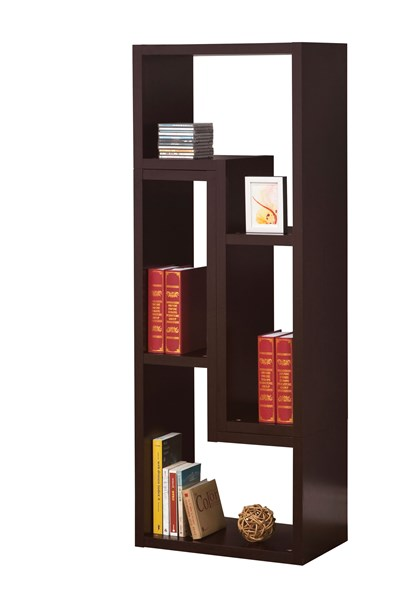 Contemporary Cappuccino Wood Open Storage TV Console CST-800329