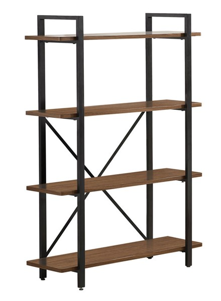 Coaster Furniture Walnut Black MDF 4 Shelves Bookcase CST-800336