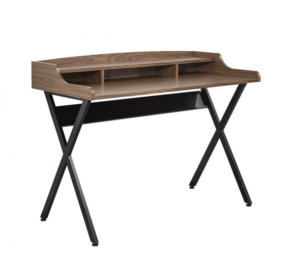 Contemporary Brown Black Wood Writing Desk CST-800415