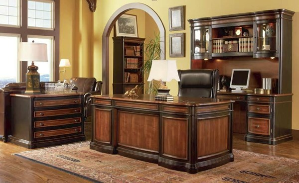 Traditional Brown Wood Office Furniture Set CST-800500S