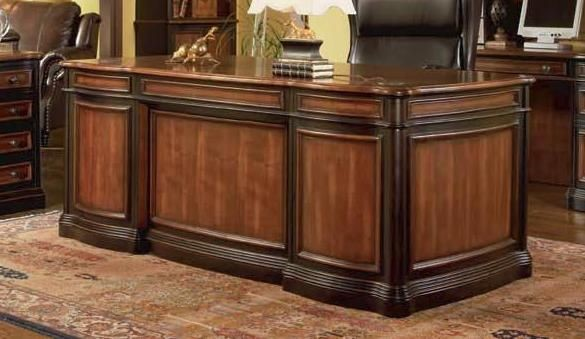 Traditional Brown Wood Rectangle Executive Desk CST-800511
