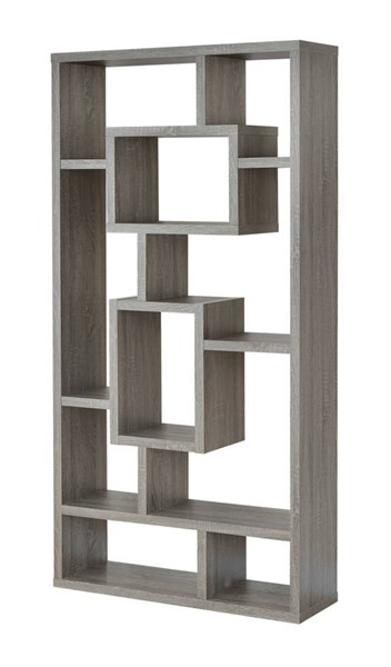 Coaster Furniture Weathered Grey Wood Tall Bookcase CST-800512