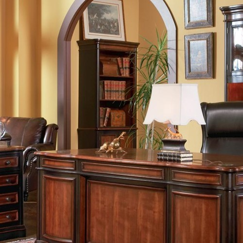 Traditional Brown Wood Tall Bookcase W/Doors CST-800513