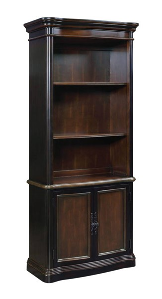 Coaster Furniture Gorman Espresso Wood Tall Bookcase with Doors CST-800513