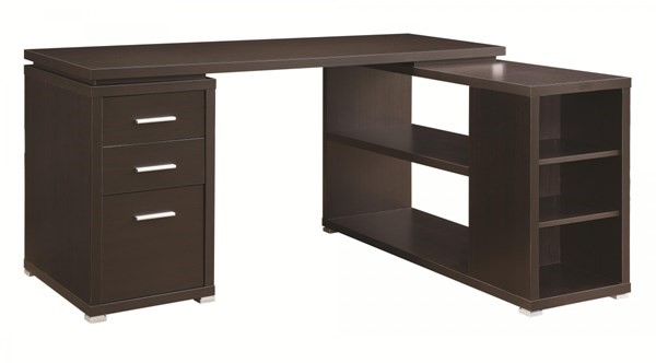 Coaster Furniture Yvette Cappuccino MDF L Shape Office Desk CST-800517