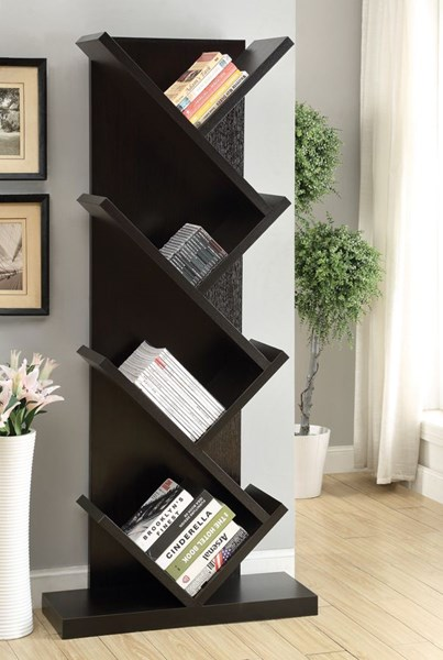 Cappuccino Wood Tall Bookcase CST-800540