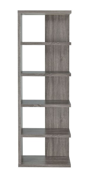 Coaster Furniture Weathered Grey 5 Shelves Bookcase CST-800553